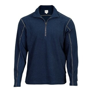 Rocky Outdoor Shirt Mens Long Sleeve Zip SilentHunter Navy LW00145