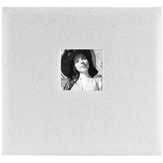 "MBI Expressions Post Bound Album W/Window 12""x12""-Glitter Of - glitter off white"