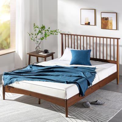 Priage by ZINUS Mid Century Wood Platform Bed Frame