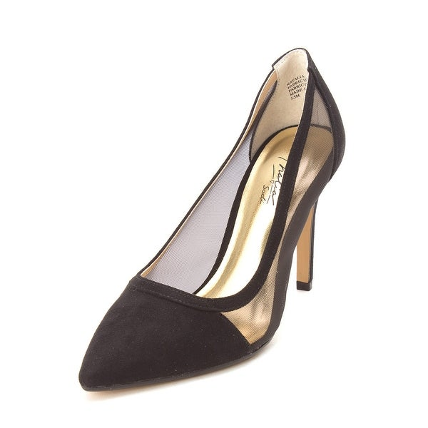 Thalia Sodi Womens Natalia Fabric Pointed Toe Classic Pumps