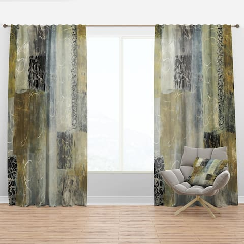Designart 'Multicolor Twin City' Glam Curtain Panel
