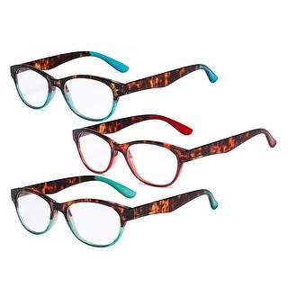 Set of 3 Great Value Readers Women Cat-eye Reading Glasses for Reading