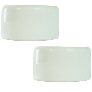 Set of 2 Smooth White Swimming Pool Ladder Bumper Cap Plugs 2.25""