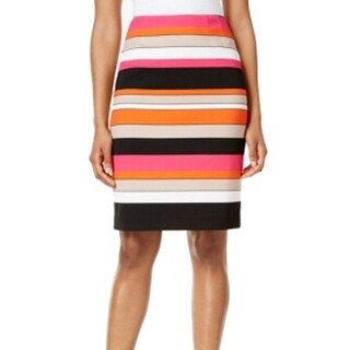 Kasper NEW Pink Perfection Women's Size 4P Petite Striped Pencil Skirt