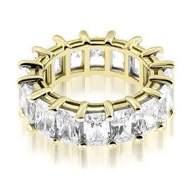 5.50 cttw. 14K Yellow Gold Classic Bar Set Emerald Cut Diamond Eternity Ring