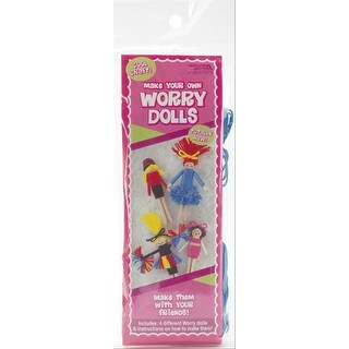 Make Your Own Worry Dolls Kit - Makes 4-Cheerleader