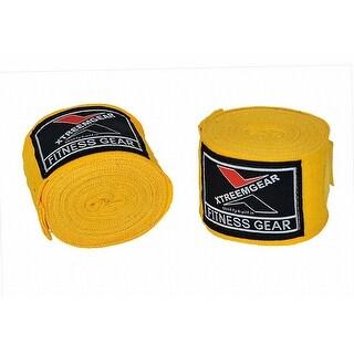 Boxing Hand Wraps Inner Gloves Bandage MMA Training Wrist Strap WRP-5 - Yellow