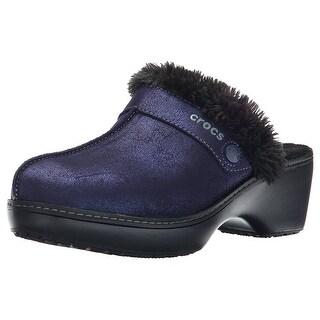 Crocs Women's Cobbler Shimmer Leather Clog