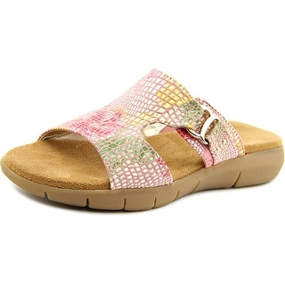 Aerosoles New Wip Women  Open Toe Canvas Pink Slides Sandal