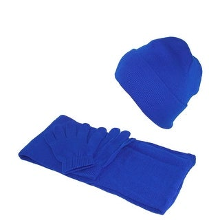 CTM® Kids' Stretch Hat Gloves and Scarf Winter Set - One Size