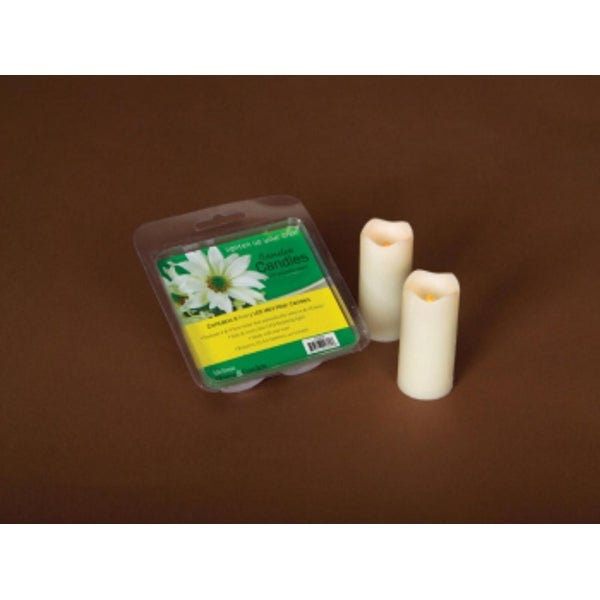 Pack of 12 Ivory Flameless LED Mini Christmas Pillar Candles w/Timers 3""