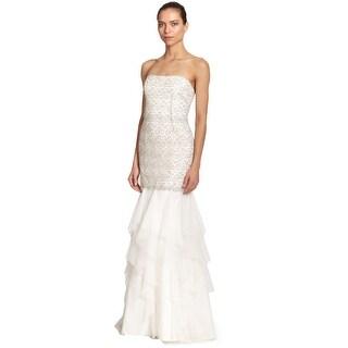 Aidan Mattox Embellished Layered Trumpet Evening Gown Dress - 10