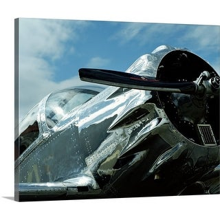 Premium Thick-Wrap Canvas entitled Front of vintage airplane, close-up
