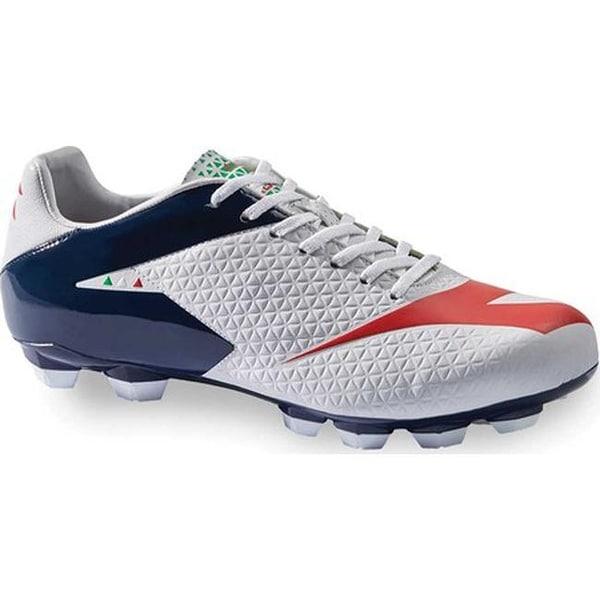 82d413300ca0 Shop Diadora Men s MW-Tech RB R LPU Soccer Cleat White Blue Night Ferrari  Red - Free Shipping Today - Overstock - 18180790