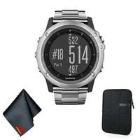 Garmin FENIX 3 Sapphire Multi-Sport Training GPS Watch (Titanium w/ Titanium Band) Basic Accessory Bundle