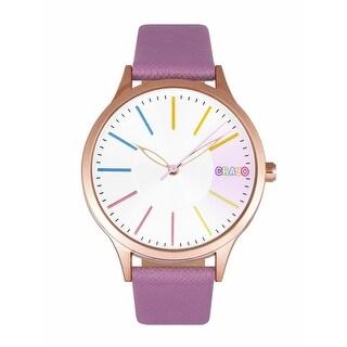Crayo Gel Leatherette Strap Watch - Purple