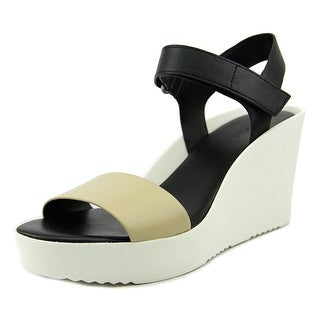 Charles By Charles David Camp Women Open Toe Leather Wedge Sandal