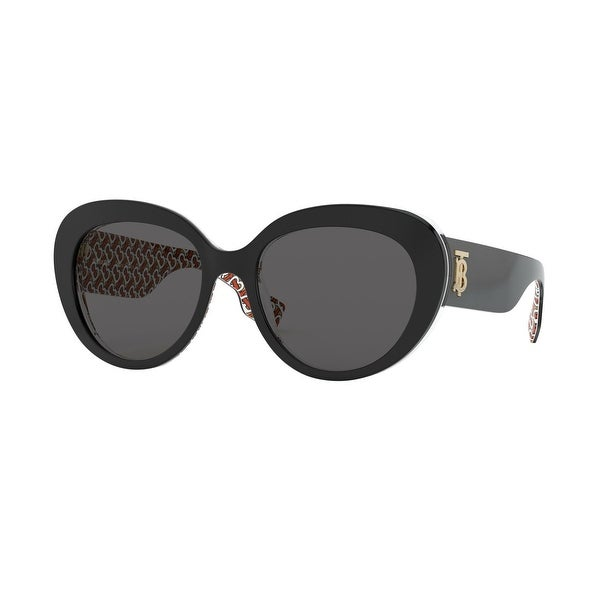 Burberry BE4298 382287 54 Top Black On Print Tb Red Woman Cat Eye Sunglasses. Opens flyout.