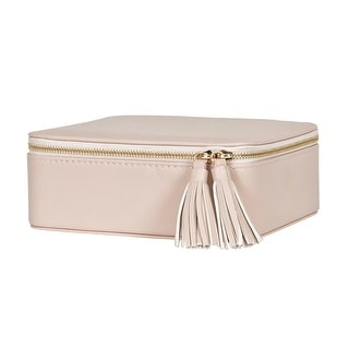 Link to Mele & Co. Shiloh Travel Jewelry Case in Tan Faux Leather Similar Items in Watch Accessories