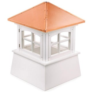 "128"" Handcrafted ""Windsor"" Copper and Vinyl Roof Cupola"