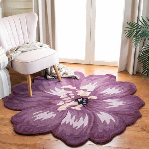 SAFAVIEH Handmade Novelty Gwladys Floral Wool Rug