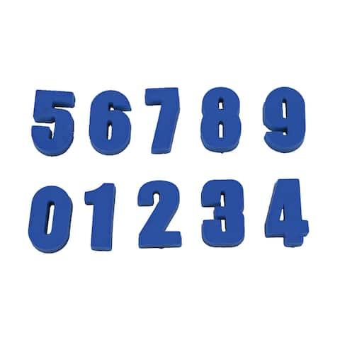 Household Whiteboard Number Design Mini Fridge Refrigerator Magnets Set - Blue