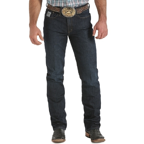 Cinch Western Denim Jeans Mens Silver Label Slim Dark Wash