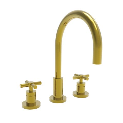 Newport Brass 990 East Linear Double Handle Widespread Lavatory Faucet with Metal Cross Handles -