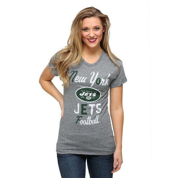 New York Jets Touchdown Tri-Blend Womens T-Shirt