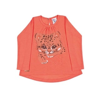 Toddler Girl Shirt Long Sleeve Kitten Graphic Tee Pulla Bulla Sizes 1-3 Years