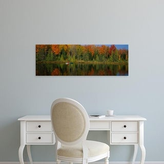 Easy Art Prints Panoramic Images's 'Reflection of trees in water, near Antigo, Wisconsin, USA' Premium Canvas Art