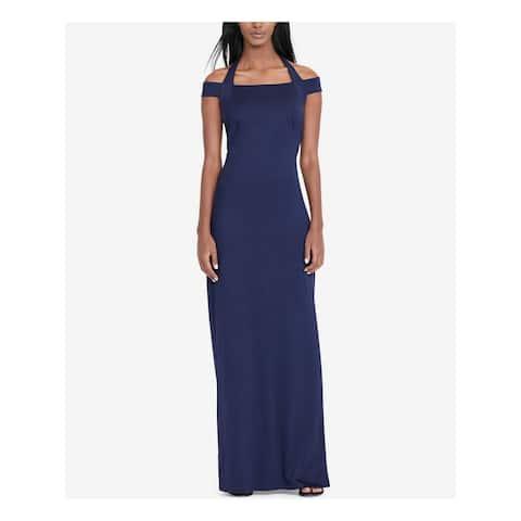 RALPH LAUREN Navy Short Sleeve Full Length Sheath Dress Size 8