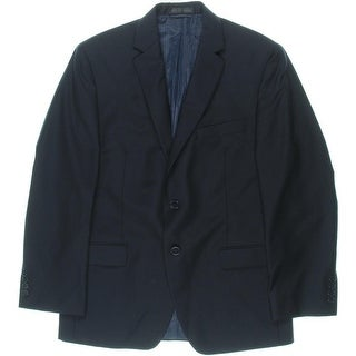 Calvin Klein Mens Wool Slim Fit Two-Button Suit Jacket - 38s