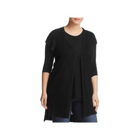 Love Scarlett Womens Sweater Vest Knit Open Front