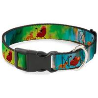Plastic Clip Collar - Lion King Simba, Pumba & Timon Growing Up -  Pet Collar