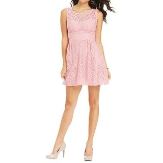 B. Darlin Womens Juniors Party Dress Lace Illusion