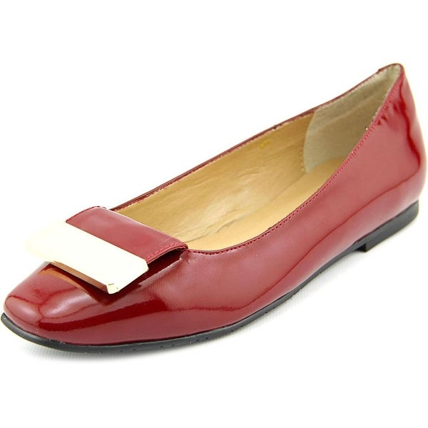 Vaneli Jalo Women N/S Round Toe Synthetic Red Flats
