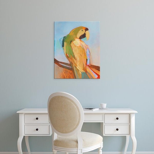 Easy Art Prints Larry Forgard's 'Parrot Wonder I' Premium Canvas Art
