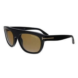 1d39f2791f5a Shop Tom Ford FT0594 01E Federico-02 Black Rectangular Sunglasses - No Size  - Free Shipping Today - Overstock - 25483885