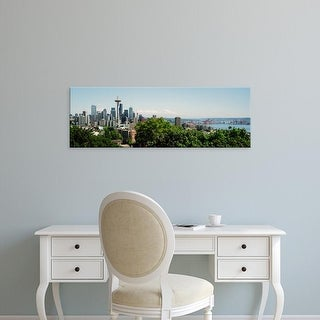 Easy Art Prints Panoramic Images's 'Skyscrapers in a city, Space Needle, Seattle, Washington State, USA' Canvas Art