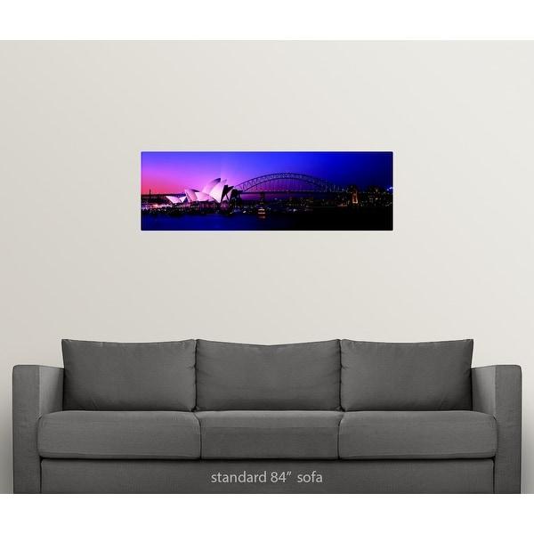 poster print  photo landscape art Sydney harbour Australia opera house sunset