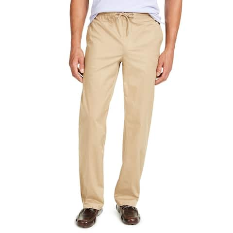 Alfani Men's Drawstring Pants Sand Suede Size Small