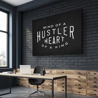IKONICK Mind Of A Hustler. Heart Of A King. Canvas Art