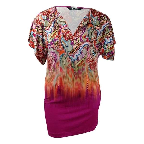 0cb00419db375 Shop Lauren Ralph Lauren Women's Sunrise Printed Tunic Cover-Up - Multi -  Free Shipping Today - Overstock - 21341135