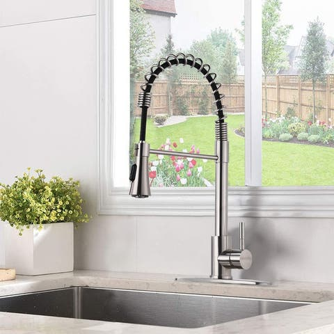 2-Function Sprayer Can Pull Down The Kitchen Sink Faucet