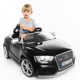 Costway 12V Licensed Audi RS5 Kids Ride On Car RC Remote Control Battery Power Black