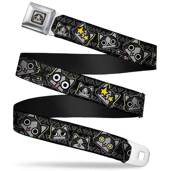 Merarou Face Full Color Black Gray Fade Merarou Expressions Tribal Black Seatbelt Belt