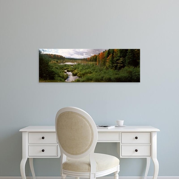 Easy Art Prints Panoramic Image 'Stream in forest, Ottawa National Forest, Upper Peninsula, Michigan' Canvas Art