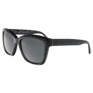 Coach HC8230 550587 Black Glitter Rectangle Sunglasses - 57-18-140