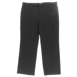 Lauren Ralph Lauren Womens Plus Casual Pants Flared Pleated